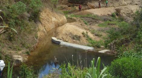 Nel 2015 terminate altre 4 dighette per l'irrigazione dei versanti e delle risaie