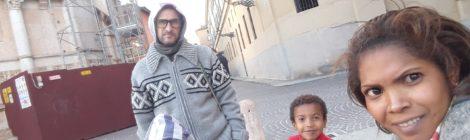 Nicola e la sua famiglia in visita in Italia